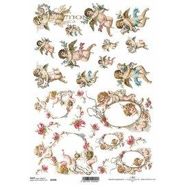DECOUPAGE AND ACCESSOIRES NYHED! 2x blødt papir, 210 x 297 mm (A4) 40g, til design på kort, kraftpapir, pap, træ, glas, porcelæn, MDF, polystyren og mange andre. - Copy