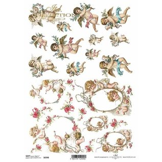 DECOUPAGE AND ACCESSOIRES NEW! 2x soft paper, 210 x 297 mm (A4) 40g, For designing on cards, kraft paper, cardboards, wood, glass, porcelain, MDF, polystyrene and many others. - Copy