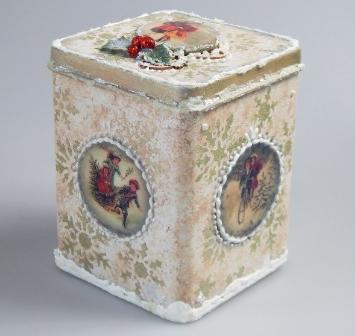 Vintage Weihnachtsdose für Weihnachtsgebäck, als Dekoration oder für kleine Geschenke!