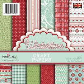 Karten und Scrapbooking Papier, Papier blöcke Bloque de papel, Polkadoodles Winter Time 15 x 15 cm, 6x6 pulgadas