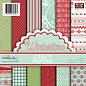 Karten und Scrapbooking Papier, Papier blöcke Blocco di carta, Polkadoodles Winter Time 15 x 15 cm, 6x6 pollici