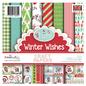 Karten und Scrapbooking Papier, Papier blöcke Paper Block, Polkadoodles Winnie Winter Wishes 15x15cm, 6x6 Inch Paper Pack