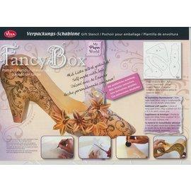 Dutch DooBaDoo Kunstschablone 30,5 x 30,5 cm, Kreative Verpackung Damenschuh