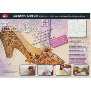 Dutch DooBaDoo Art template 30,5 x 30,5 cm, Creative packaging ladies shoe