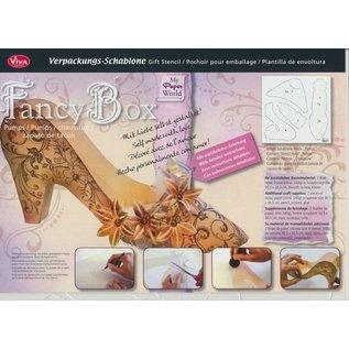 Dutch DooBaDoo Kunstsjabloon 30,5 x 30,5 cm, creatieve verpakking damesschoen