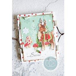 Stempel / Stamp: Transparent Timbro trasparente con 5 motivi natalizi