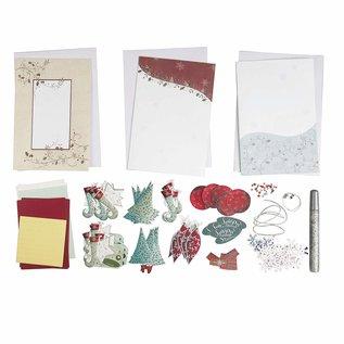 BASTELSETS / CRAFT KITS Natale, set di carte, per 15 cartoline di Natale!