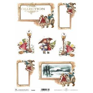 Bilder, 3D Bilder und ausgestanzte Teile usw... Paper SET, Christmas, 4x A4 sheets, 250 gsm