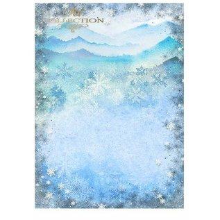 """Karten und Scrapbooking Papier, Papier blöcke Set Karten und Scrapbooking Papiere, """"Winter"""" 5 x Blatt 200 g/m2, A4 (doppelseitig) + 1 x Blatt 200 g/m2 A4"""