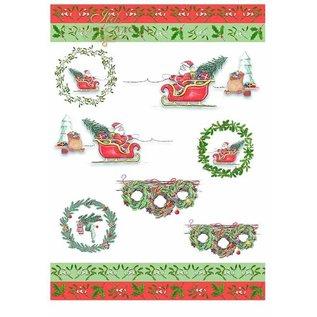 "Karten und Scrapbooking Papier, Papier blöcke Paper pad for cards and scrapbooking, ""Winter"" 5 x sheet 200 g / m2, A4 (double-sided)"