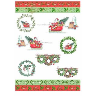 "Karten und Scrapbooking Papier, Papier blöcke Set kaarten en scrapbookpapier, ""winter"" 5 x vellen 200 g / m2, A4 (dubbelzijdig)"