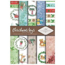 "Karten und Scrapbooking Papier, Papier blöcke Set of cards and scrapbooking papers, ""winter"" 5 x sheets 200 g / m2, A4 (double-sided)"