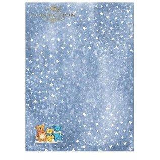 """Karten und Scrapbooking Papier, Papier blöcke Papieren blok voor kaarten en scrapbooking, """"Winter"""" 5 x vel 200 g / m2, A4 (dubbelzijdig)"""
