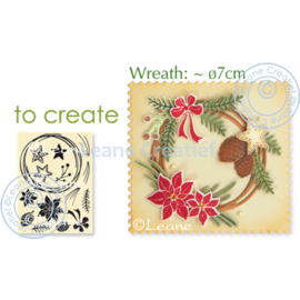 Crafter's Companion cutting dies + stamp: design autumn and winter wreath
