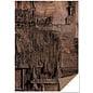 Karten und Scrapbooking Papier, Papier blöcke Karton met houtlook, houtcollage, donkerbruin