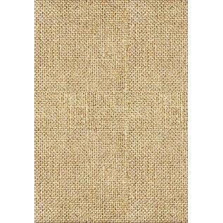 Karten und Scrapbooking Papier, Papier blöcke Assortiment kaarten, vintage, bamboe, jute, beige / bruin