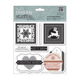 Stempel / Stamp: Transparent Gummi stempel: Weihnachtsmotive , mit 7 einzelne Motive