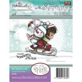 Stempel / Stamp: Transparent vakkert stempel, Polkadoodles Winnie Wonderful Time