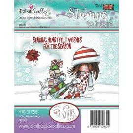 Stempel / Stamp: Transparent vakkert stempel, Polkadoodles Winnie Heartfelt Wishes