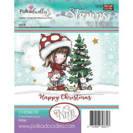 Stempel / Stamp: Transparent beau timbre, arbre de Noël Winnie de Polkadoodles