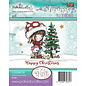 Stempel / Stamp: Transparent smukt stempel, Polkadoodles Winnie juletræ