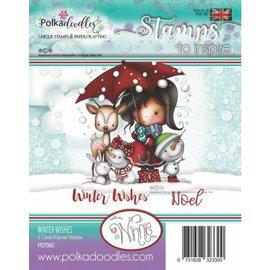 Stempel / Stamp: Transparent vakkert stempel, Polkadoodles Winnie