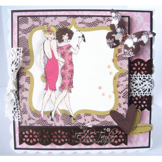 "Crafter's Companion A6 Frou Frou, Freundinnen,  Unmounted Gummi Designer Stempel Set,  ""Two Of A Kind"""