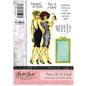 """Crafter's Companion A6 Frou Frou Unmounted Gummi Designer Stempel Set,  """"Two Of A Kind"""""""