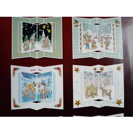 BASTELSETS / CRAFT KITS Juego de tarjetas artesanales, para 6 tarjetas desplegables, tarjetas de Navidad