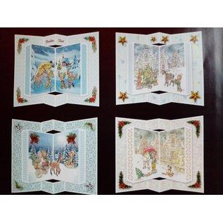 BASTELSETS / CRAFT KITS Craft card set, for 6 pop-up cards, Christmas cards