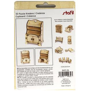 Holz, MDF, Pappe, Objekten zum Dekorieren Miniaturen aus Holz, 7,5 x 4,2 x 11 cm