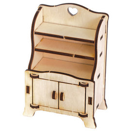 Holz, MDF, Pappe, Objekten zum Dekorieren Miniatures en bois, 7,5 x 4,2 x 11 cm