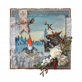Joy!Crafts / Jeanine´s Art, Hobby Solutions Dies /  Punzonado y estampado de plantillas, enanos / gnomos