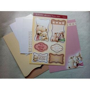"Hunkydory Luxus Sets Deluxe Cards SET, voor 3 kaarten, van Hunkydory, ""Daddy Bear"" Limited!"
