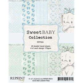 DCWV und Sugar Plum Bloque de papel, dulce bebé, 15 x 15 cm, 20 hojas de doble cara, 170 g / m2.
