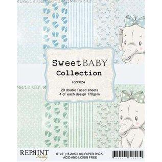DCWV und Sugar Plum Papirblok, sød baby, 15 x 15 cm, 20 dobbeltsidede blade, 170 gsm.