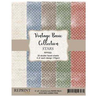 DCWV und Sugar Plum Paper block, vintage paper, 15 x 15cm, 20 double-sided sheets, 170 gsm.