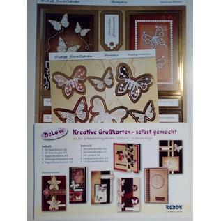 BASTELSETS / CRAFT KITS Deluxe, Karten Bastel-SET, für viele kreative Grußkarten, gold-Laminiert! LIMITED!