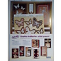 BASTELSETS / CRAFT KITS Deluxe, cards crafting set, for many creative greeting cards, gold-laminated!
