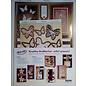 BASTELSETS / CRAFT KITS Deluxe, kaartenontwerpset, voor veel creatieve wenskaarten, goudgelamineerd!