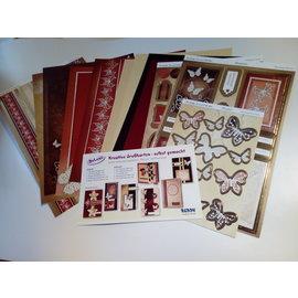 BASTELSETS / CRAFT KITS Deluxe, håndverkssett for kort, for mange kreative gratulasjonskort, gulllaminerte!