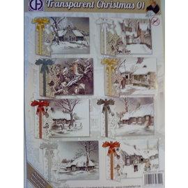BASTELSETS / CRAFT KITS Craft SET, pour 8 cartes de vœux, thèmes hiver et Noël