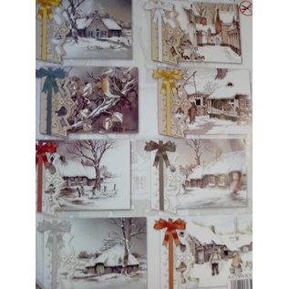 BASTELSETS / CRAFT KITS Craft SET, til 8 lykønskningskort, vinter- og juletemaer