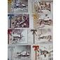 BASTELSETS / CRAFT KITS Bastel SET, für 8 Grußkarten, Winter und Weihnachtsmotiven