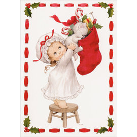 BASTELSETS / CRAFT KITS Crea Craft, per creare 3 graziose cartoline di Natale + 3 etichette Extrta, biglietti di auguri per Natale!
