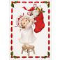 BASTELSETS / CRAFT KITS Håndværkssæt til design af 3 smukke julekort + 3 ekstra etiketter, lykønskningskort til jul!