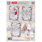 BASTELSETS / CRAFT KITS Craft SET, to create 3 pretty Christmas cards + 3 Extrta labels, greetings cards for Christmas!