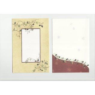 BASTELSETS / CRAFT KITS Christmas, card SET, for 15 Christmas cards!