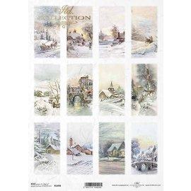 DECOUPAGE AND ACCESSOIRES NUEVO! Papel suave, 210 x 297 mm (A4) 40 g, para diseñar en tarjetas, papel kraft, cartones, madera, vidrio, porcelana, MDF, poliestireno y muchos otros.