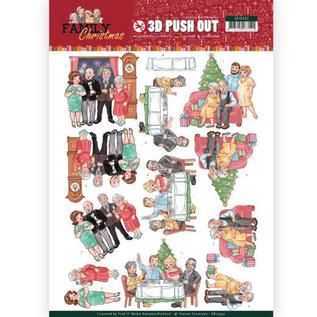 Bilder, 3D Bilder und ausgestanzte Teile usw... 3x 3D Pushout: Yvonne Creations, Family Christmas, Loving Christmas